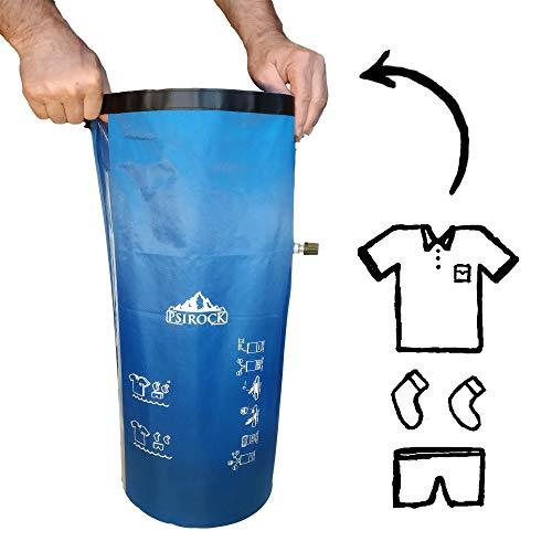 Lavadora CAMPING accesorios acampada Mini LAVADORA portatil BOLSA ESTANCA 20 litros Bushcraft | Lavadoras MANUALES Bolsa IMPERMEABLE estanca Dry bag Bolsa seca Bolsa LAVADORA de VIAJE para lavar ropa