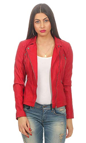 ONLY Damen onlSTEADY Faux Leather Biker CC OTW Jacke, Rot (Jester Red Jester Red), 36