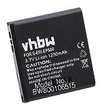 vhbw Li-Ion batería 1250mAh para teléfono móvil Smartphone Sony-Ericsson U5i Vivaz, U5i Cosmic, U5a, Kurara, Vivaz Pro, Xperia Active, WT19i y EP500.