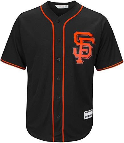 Outerstuff MLB Infants Toddler Blank Cool Base Alternate Road Team Jersey (San Francisco Giants Alternate Black, 3T)