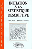 Initiation à la statistique descriptive