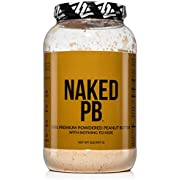 NAKED PB – 100% Premium Powdered Peanut Butter from US Farms – 2lb Bulk, Only Roasted Peanuts, Vegan, No Additives, Preservative Free, No Salt, No Sugar - 76 Servings