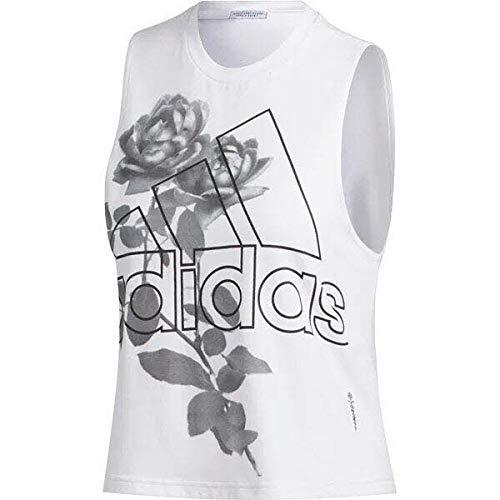 adidas WIP Crop 1 W Camiseta De Tirantes, Mujer, Blanco, L