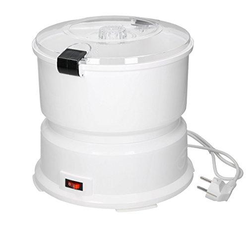 ECD Germany Elektrische Kartoffelschälmaschine mit Edelstahlreibe für 1 kg Kartoffeln - Küchenhilfe für Ihren Haushalt - Elektrische Kartoffelschäler Kartoffel Schälmaschine