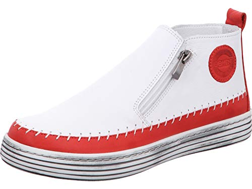 Gemini Damen Leder Stiefeletten Boots 342330-02, Größe:37 EU, Farbe:Rot