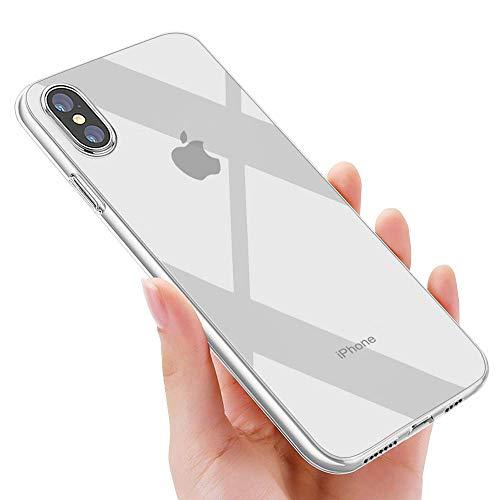 phixilin iPhone XS Max Hülle Crystal iPhone XS Max Handyhülle Silikon Ultra Dünn TPU Bumper Schutzhülle Stoßfest Anti-Scratch Hülle für iPhone XS Max Hülle Cover - Transparent