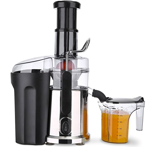 Juice Extractor, Juice Machine Stainless Steel Citrus Juicer High Power Centrifugal Juicer Fruit and Vegetable Juicer for Apples, Lemon, Oranges, Carrots, Tomatoes