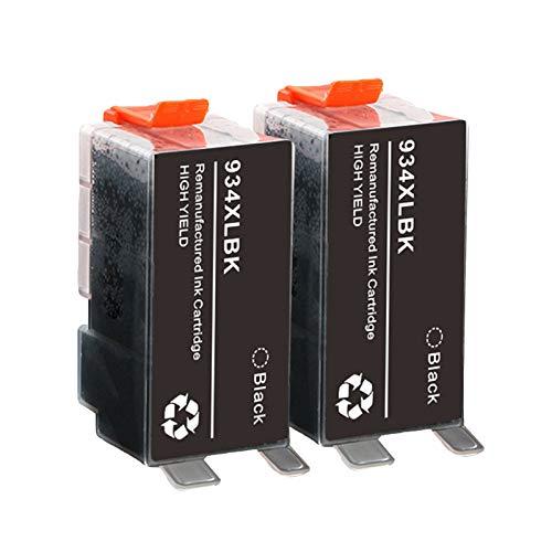 SXCD Cartuchos de tinta 934XL 935XL para impresora HP Officejet Pro 6230 6830 6835 6812 6815 6820 E-tout-en-un, compatibles con 4 colores negro x 2