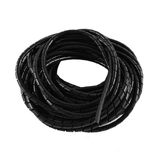 X-DREE Cable de cinta de envoltura espiral de polietileno Wire Manager 6mm...