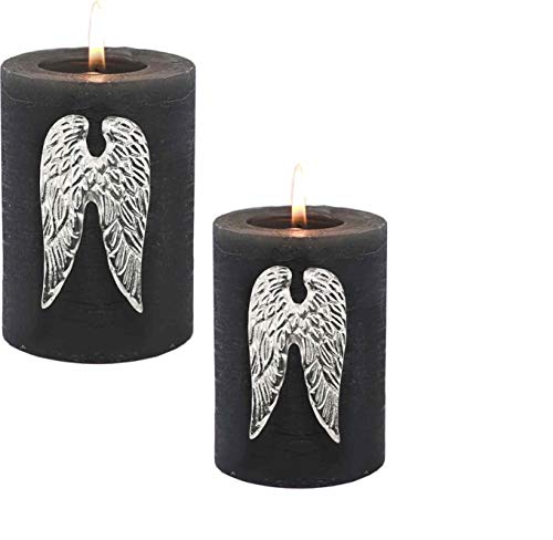 EDZARD Engelsflügel aus Metall im 2 teiligen Set, Kerzenstecker, Pins, Dekoration, Flügel, Kerzenpin, Kerzenflügel