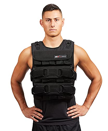 MIR PRO Weighted Vest With Zipper Option 45lbs - 90lbs (75LBS, STANDARD)