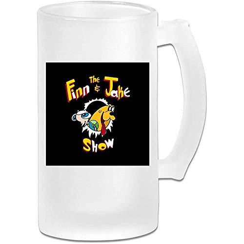 Gedruckte 16oz Milchglas Bier Stein Tasse Tasse - Ren und Stimpy Die Finn und Jake Show Adventure Time - Grafikbecher