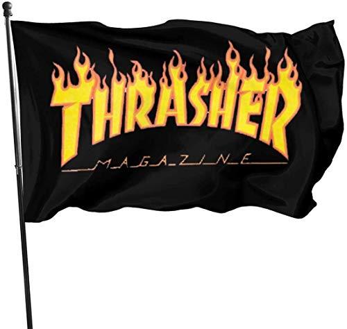 Thra-sher Flagge, saisonales Gartenflaggen-Set für den Außenbereich, Osterfahne, Banner, 90 x 150 cm