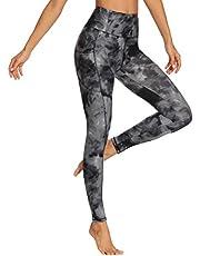 HLTPRO Yogabroek met hoge taille voor dames - Tummy-controle 4-way stretch yoga-legging met zakken voor training, hardlopen