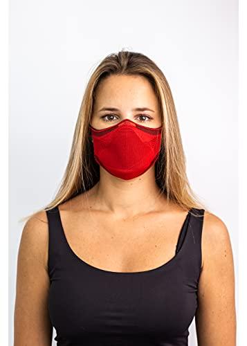 Máscara Esportiva Knit Fiber - Tamanho M, Vermelha