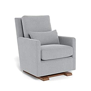 Monte Design Upholstered Modern Nursery Como Glider Chair, Nordic Grey