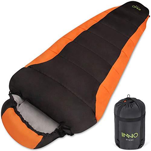Saco de dormir para adultos, para acampada, senderismo, viajes al aire libre, con bolsa de compresión portátil, bolsas de dormir ligeras para primavera, verano, otoño para clima cálido o frío