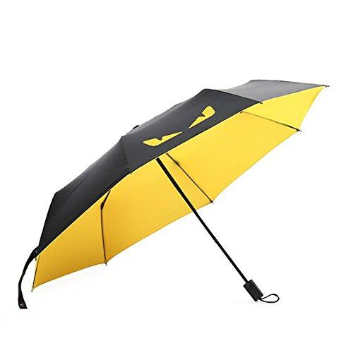 Paraguas amarillo plegable