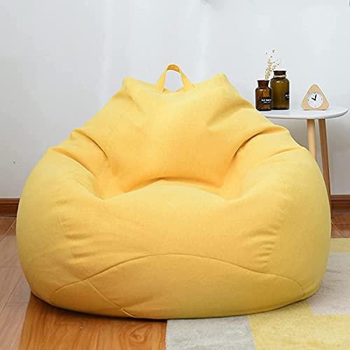 LSWY Cubierta del sofá de la silla de la bolsa de frijoles clásico, la cubierta de la bolsa de frijol grande con la cubierta del pedal para el dormitorio de la sala de estar para el hogar sin llenado,