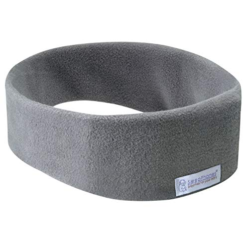 SleepPhones® Wireless v7 - Forro polar (talla M), color gris