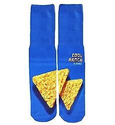 top 10 cool basketball socks Men's Boys Funny Crazy Funny Cool Design 3D Print Graphics Novelty Sports Basketball Socks, M,…