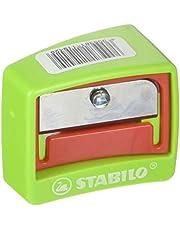 STABILO 4548/12 - Sacapuntas (Manual pencil sharpener, Verde/Rojo, Acero inoxidable, Translúcido, De plástico)