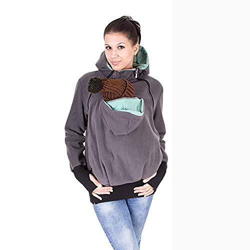 AIBAB Herbst Und Winter DREI In Einem Abnehmbar Baby Schlafsack Multifunktion Känguru-Mutter Sweatshirt Mantel Frauenkleidung