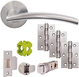 Jigtech JTB71205 Sabre Door Pack-Latch-Satin Chrome