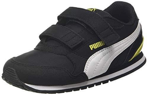 PUMA Unisex Baby ST Runner v2 NL V Inf Sneaker, Schwarz Black White-Meadowlark, 27 EU