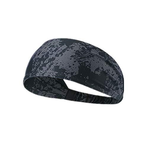 Headband Cinta de Pelo Deportiva Bandas para el Pelo para Hombres Sudor Bandas elásticas para Las Mujeres Banda de Sudor Banda para la Cabeza Graffiti Gray,1