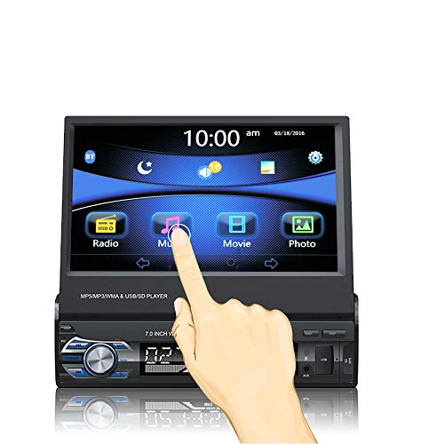 Ezonetronics 7 Zoll Autoradio Flip 1DIN Auto Stereo Play Telefon Musik über USB AM/FM Radio Bluetooth MP3 MP4 Player mit USB/SD 0013