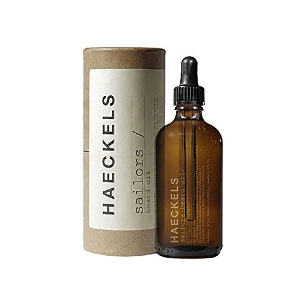 誓う危険にさらされているエンディング船員のひげオイル50ミリリットル x2 - Haeckels Sailors Beard Oil 50ml (Pack of 2) [並行輸入品]