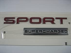 Genuine Range Rover Sport Red Supercharged Badge Emblem