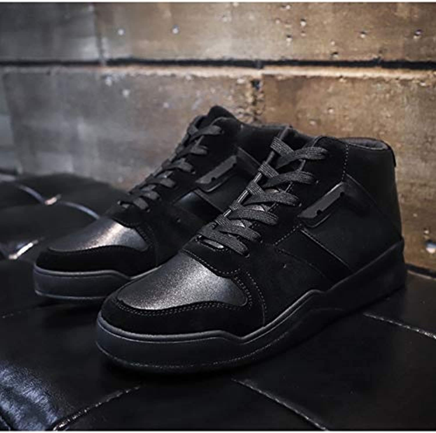 Anstorematealliance Outdoor&Sports shoes Trendy Lace-up High Casual shoes for Men (color Black Size 39)