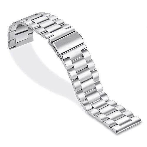 Reemplazo de Correa de Reloj, Accesorios de Reloj Compatible Galaxy Watch Correa de 46 mm para Samsung Gear S3 Frontier Active 22 mm Correa de Reloj Pulsera de Acero Inoxidable 44 mm 40 mm compatibl