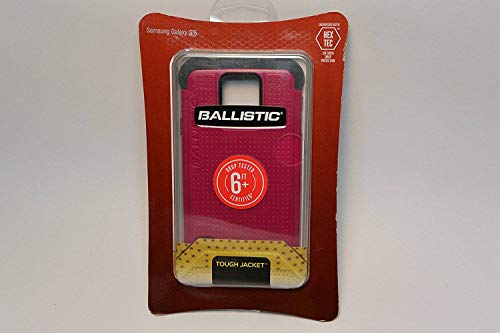 Ballistic Samsung Galaxy S5 Tough Jacket Case - Retail Packaging - Mulberry/Grey