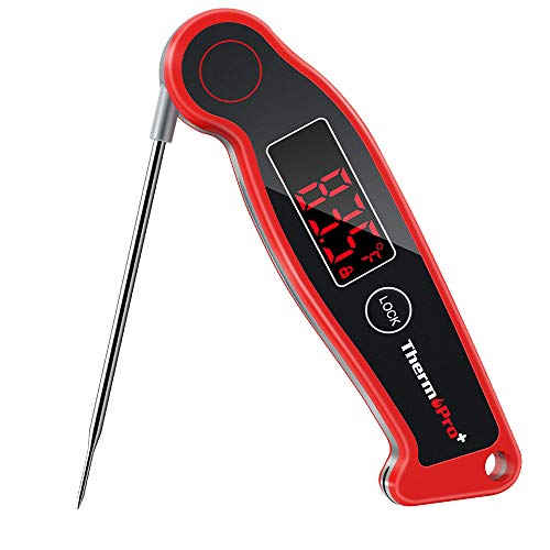 Great Deal! ThermoPro TP19 Waterproof Digital Meat Thermometer for Grilling with Ambidextrous Backli...