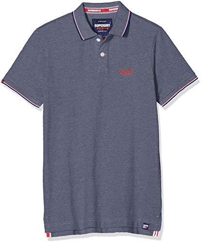 Superdry Herren Poolside Pique Polo Poloshirt, Blau (Royal Twist TIU), X-Large