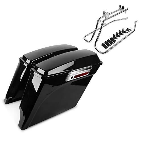 Maletas con Portamaletas CR para Harley Softail Deluxe 05-17 Extendidas