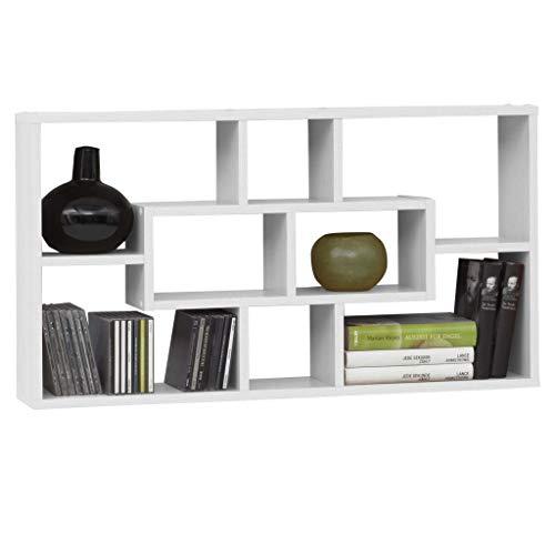 FMD furniture Wandregal, Holz, Weiß, 87 x 48 x 16 cm