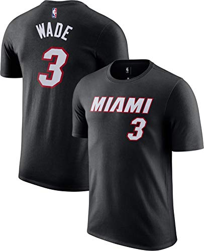 Outerstuff NBA Youth Performance Game Time Team Color Player Name and Number Jersey T-Shirt (Dwayne Wade Miami Heats Black, 14-16)