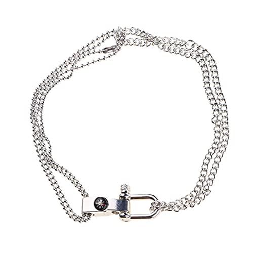 WTALL Collar, collar de moda, símbolo de caduceo de la medicina cruz cráneo colgante collar mujer joyería gótica