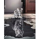 'N/A' Malen nach Zahlen Erwachsene, DIY Handgemalt Ölgemälde für Kinder Anfänger- Katze oder Tiger Leinwanddruck Wandkunst Dekoration Home Haus Deko