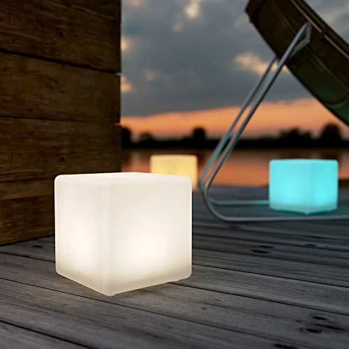 Shapelights® Stimmungslicht für Innen- und Außenbereich, USB aufladbar, solarbetrieben, Farbwechsel, Mini-Würfelform, 17,5 cm