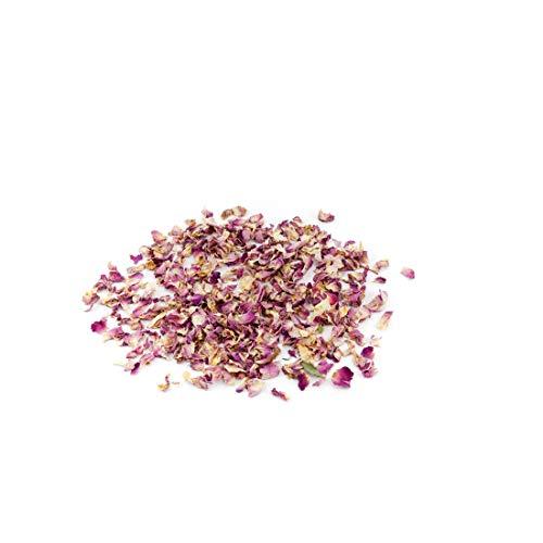 Die Gudn Coriandoli di fiori (100% biodegradabili da petali di rosa seccata) coriandoli di rose vere, ad esempio come decorazione per matrimoni o coriandoli (100 grammi)