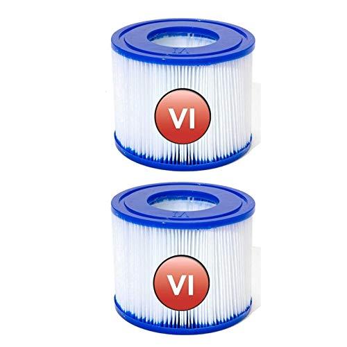 GAODA Filterkartusche VI Pool Filter Filter, für VIMiami, Vegas, Palm Springs, Monaco, Ersatzkartusche für Antimikrobielle Filterkartuschen.kompatibel mit 58239. (2 PCS)