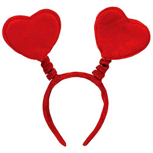 Soft Felt Valentines Heart Headband Bopper