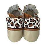 JUNGLE CAT Handmade in USA, All-Natural Leather Baby Shoes. (Small 0-6 months)