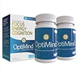 OptiMind Nootropics Brain Booster Supplement, Enhance Focus and Energy, As Seen on Netflix...