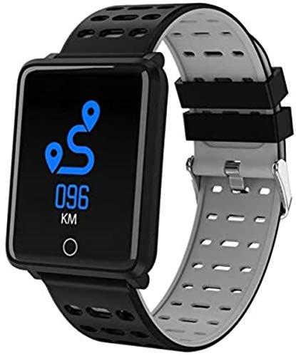 SportSmart impermeabile Uomini Donne Fitness Tracker intelligente orologio rosso elettronico,Grigio